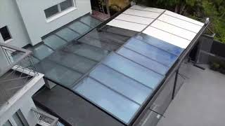 Polycarbonate sliding roof