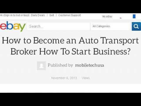how to become an auto broker - How To Become A Auto Broker