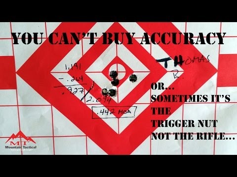 You Can't Buy Accuracy...  Sometimes the Trigger Nut is Loose...
