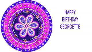 Georgette   Indian Designs - Happy Birthday