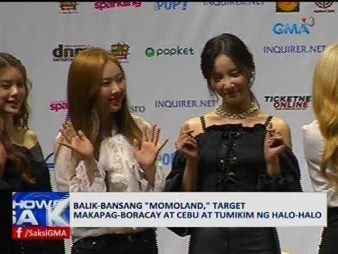 """Balik-bansang """"Momoland,"""" target makapag-Boracay at Cebu at tumikim ng halo-halo"""
