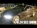 8 SEC BMW 340i TURBO V6! 8.24 1/8 MILE ON STREET TIRES!