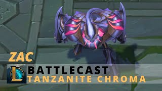 Battlecast Zac Tanzanite Chroma - League Of Legends