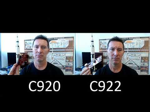 Logitech C920 vs C922 Pro Stream Webcam Shootout