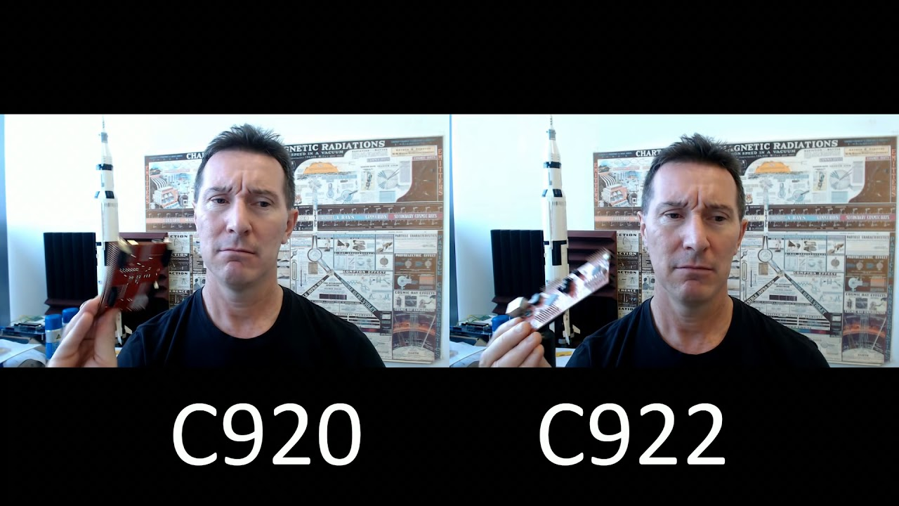 Logitech C920 vs C922 Pro Steam Webcam Shootout