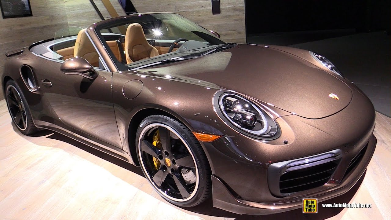 2017 porsche 911 turbo s convertible exterior and interior walkaround 2016 la auto show. Black Bedroom Furniture Sets. Home Design Ideas