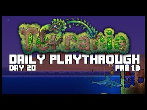 Terraria PC Lets Play - OCEAN FARMING, COBALT ORE [20] PRE 1.3 (Practising for Terraria 1.3)