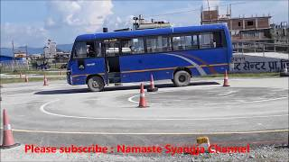 NEPAL DRIVING LICENSE TRIAL HEAVY BUS