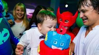 pj masks new. Герои в масках новые серии. 2018 День Рождение мистер Никита 5 лет