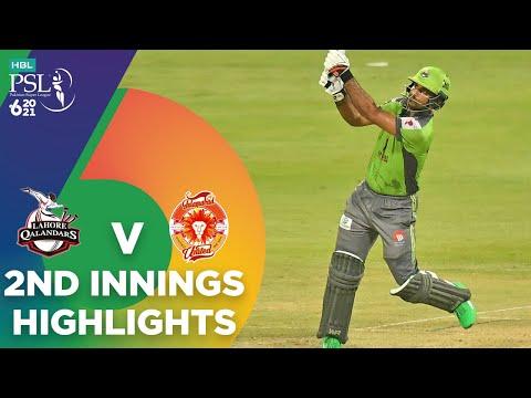 2nd Innings Highlights | Lahore Qalandars vs Islamabad United | Match 20 | HBL PSL 6 | MG2T
