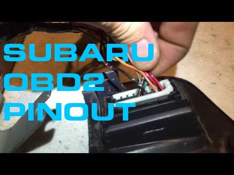 Subaru OBD2 Pinout - YouTube