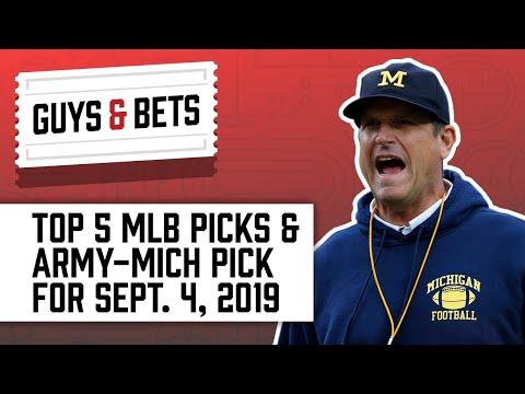Guys & Bets: Top 5 MLB Picks and Army-Michigan Pick