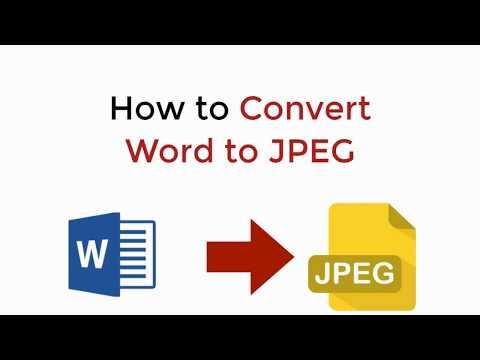 Word To JPEG : How To Convert Word To JPEG Windows/Mac/Mobile
