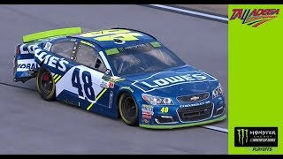 Jimmie Johnson involved in pit-road entrance collision, damages right side