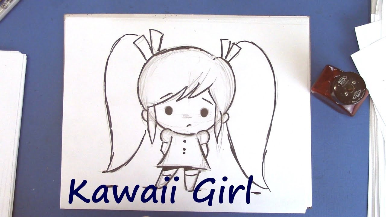 How To Draw A Kawaii Girl Easy To Draw Youtube