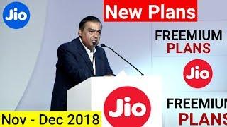 Latest Jio FREEMIUM Plans मिलेगा Nov-Dec 2018 | Latest Reliance Jio Announcement