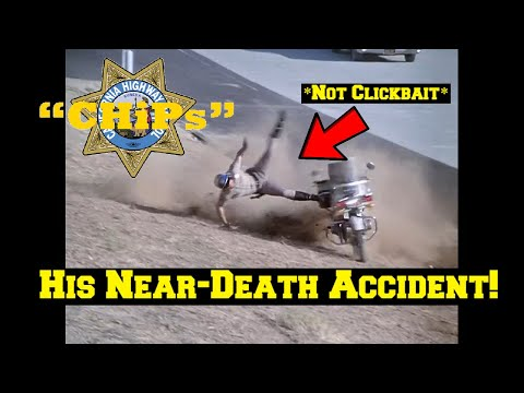 Erik Estrada's (CHiPs) On- SET Motorcycle Accident ALMOST Took His Life! Did You Know?