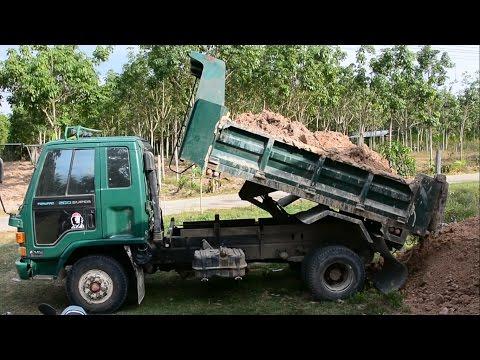 รถดั้ม รถบรรทุก 6 ล้อ ถมดิน เทดิน มันส์ๆ เลย  Truck  Thailand