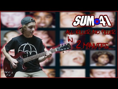 Sum 41 - All Killer No Filler in 2 minutes (Guitar Medley)