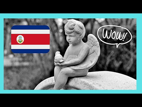 COSTA RICA, the marble sculptures and tombs of GENERAL CEMETERY in SAN JOSE