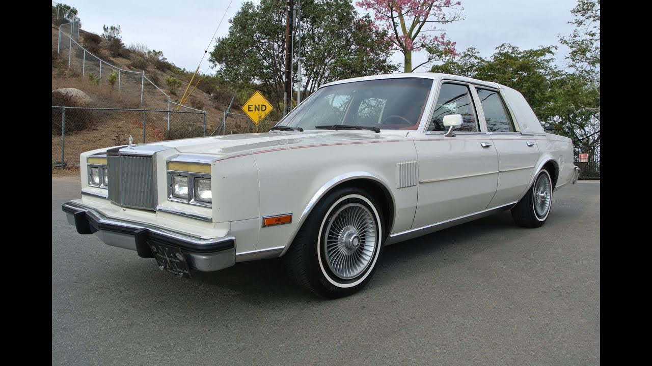 1986 Chrysler Fifth Avenue 1 Owner M body Mopar 5.2 318 V8 5th Ave ...