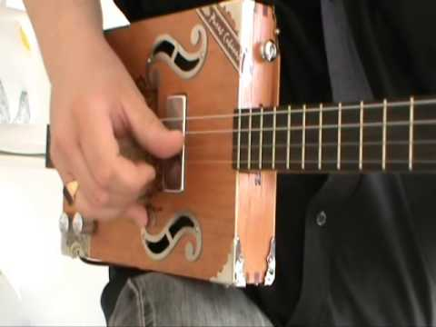 how to play 4 string cigar box guitar 3