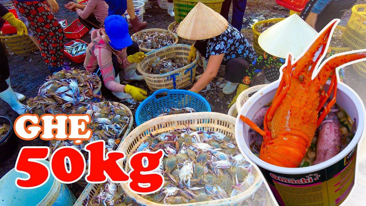 """Khám phá Chợ """"Ghẹ 50kg"""" tươi ngon giá rẻ tại Việt Nam"""