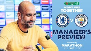 Pep Guardiola previews the Carabao Cup Final | PRESS CONFERENCE