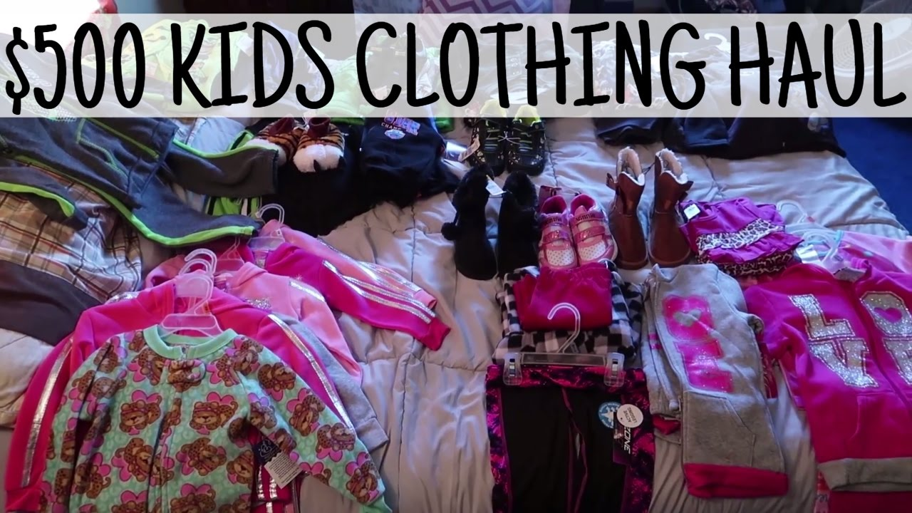 500 Kids Clothing Haul For 70 Dollar General