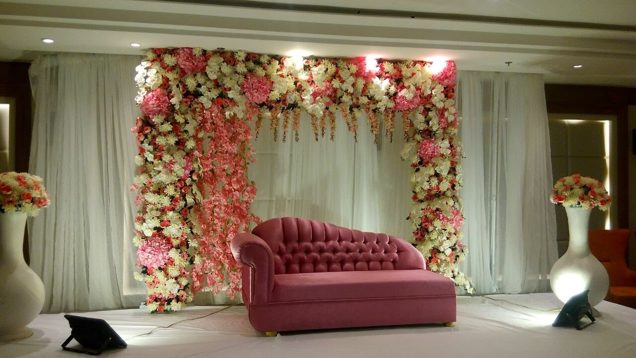 Diy wedding backdrop decorating ideas youtube for Background decoration for wedding