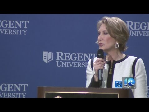 Carly Fiorina speaks at Regent University luncheon series