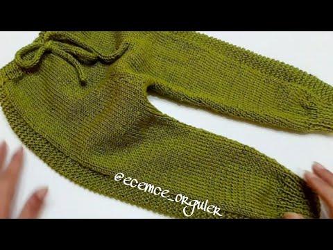 Ayaz Pantolon / Örgü bebek pantolonu yapımı / Kolay bebek pantolon yapılışı