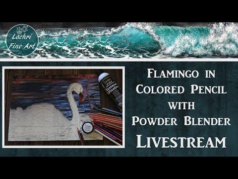 Colored Pencil w/ Powder Blender + Art Q&A Livestream - Lachri