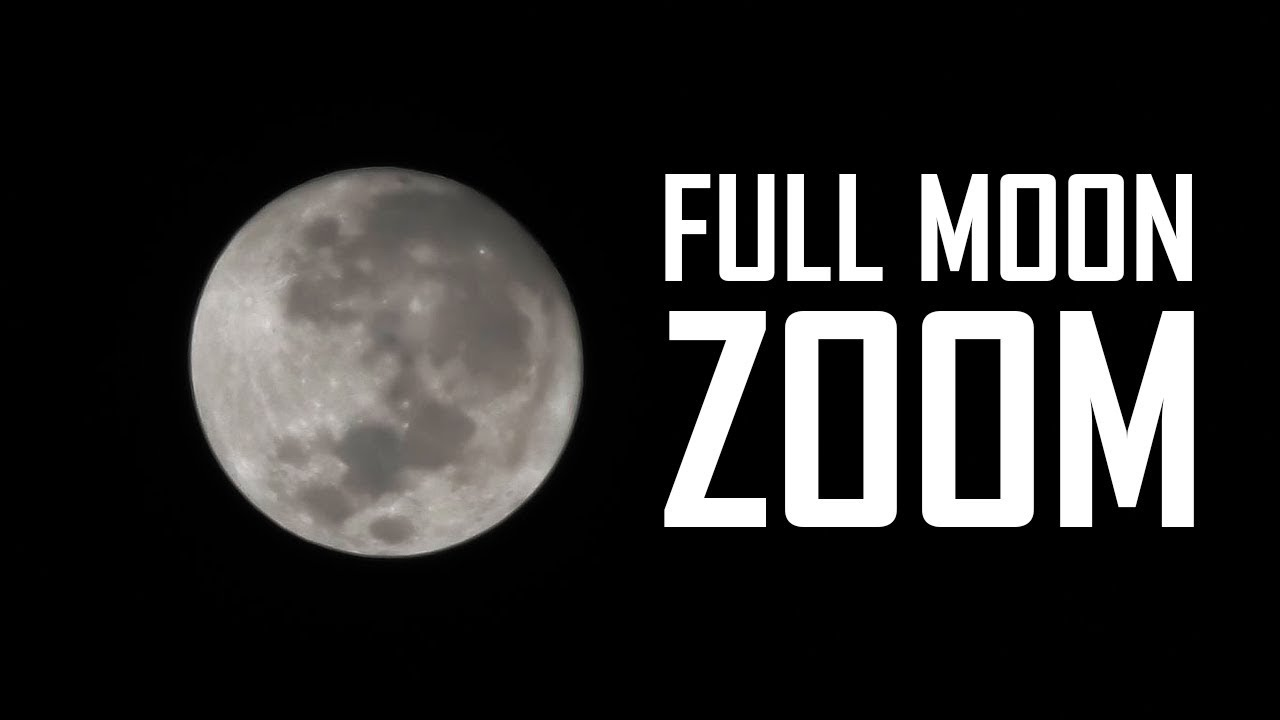 Full Moon Zoom Panasonic HC VX1 4K
