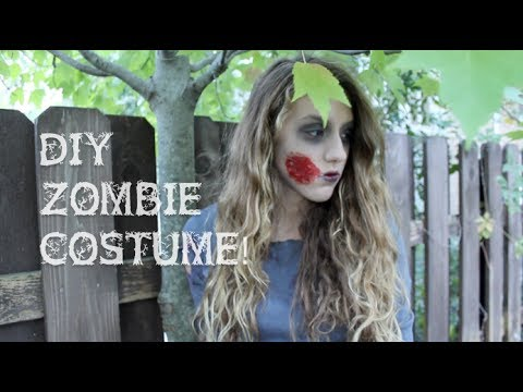 Diy zombie costume makeup outfit youtube diy zombie costume makeup outfit solutioingenieria Images
