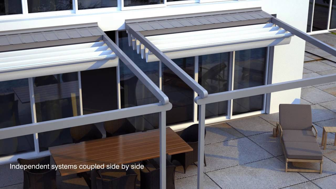 Helioscreen All Seasons Retractable Roof System Youtube