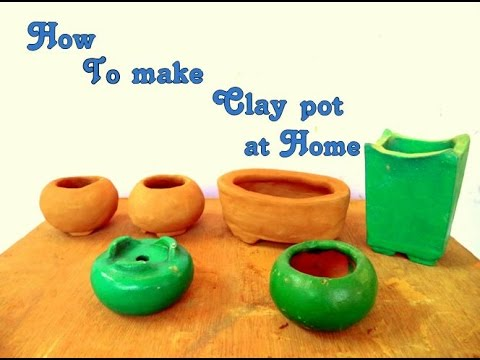 How To Make Clay Bonsai Pots At Home Hindi
