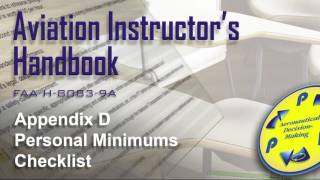aviation instructors handbook appendix d personal minimums checklist audio