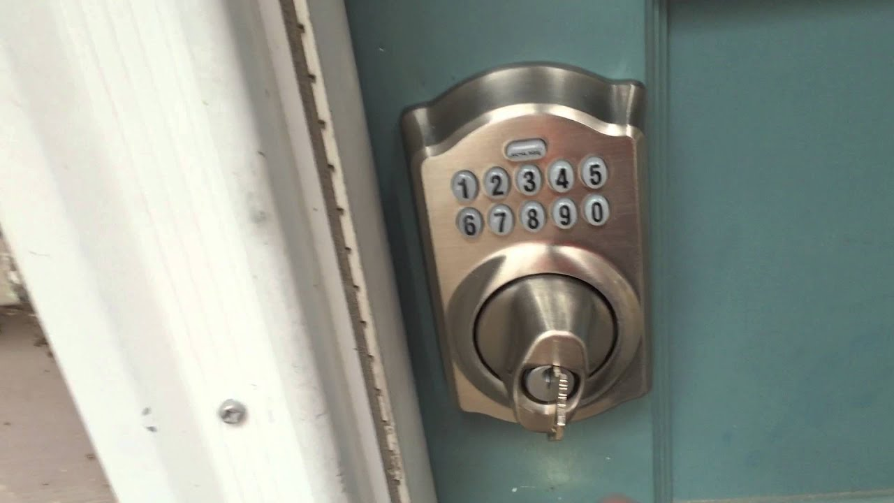 How To Unlock A Schlage Electronic Keypad Be365 Deadbolt