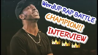 Franko Bucci !! WordUP RAP BATTLE CHAMPION!!! (Interview)