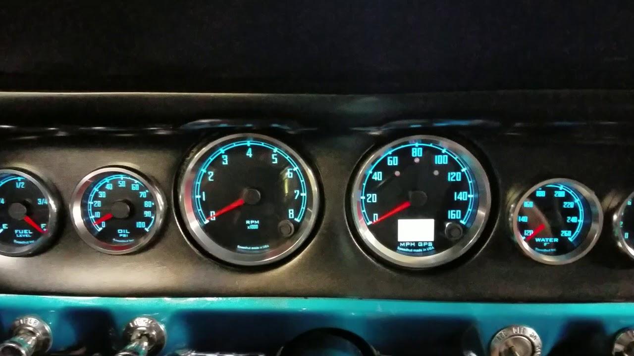SpeedHut gauges in 65 Mustang