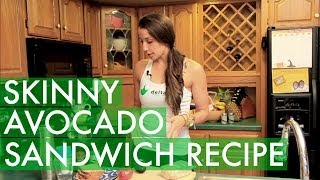 Skinny Avocado Vegan Sandwich Recipe - Win A Juice Cleanse! #blissedin - Bexlife