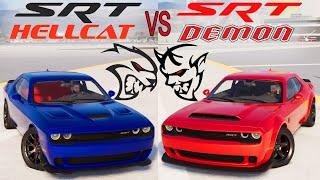 The CREW 2: Dodge Challenger SRT HELLCAT VS Dodge Challenger SRT DEMON (WHICH IS FASTEST?)
