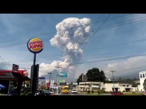 Santiaguito volcano eruption Jun 17, 2016 Guatemala