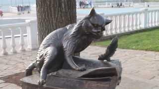 Скульптура учёного кота в Калуге