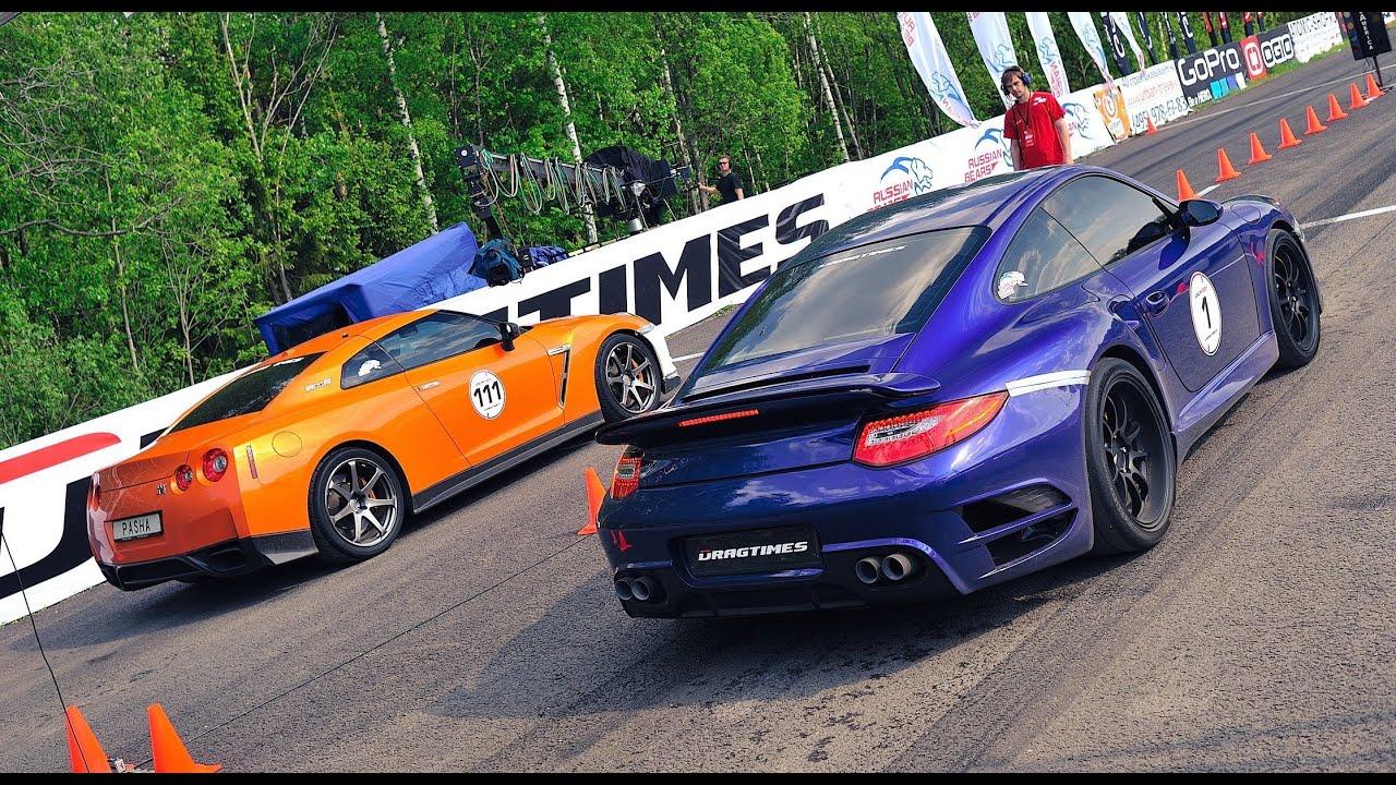1000+ HP Porsche 911 Turbo vs. 1000+ HP Nissan GT-R R35. Unlim 500+