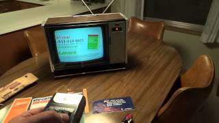 Watch a 1978 Zenith Chromacolor II Color TV with Space Command Remote Control!