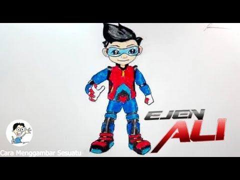 Cara Menggambar Ejen Ali 1 Youtube