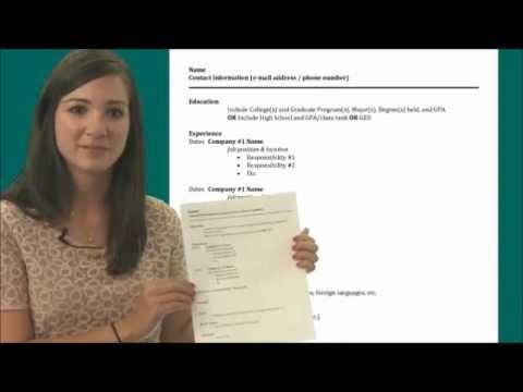 resume for freshers format youtube