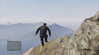【GTA5】一番高い山から落ちてみた